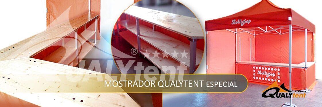 Balcão de tenda dobrável Qualytent especial