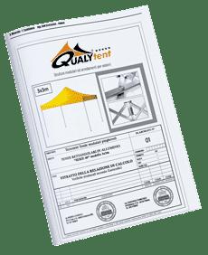 Cálculos estáticos tendas dobráveis Qualytent S-45