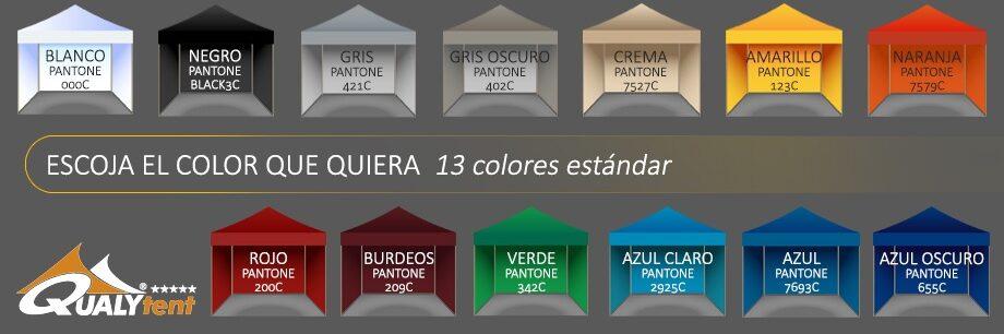 Catálogo de cores para tendas Qualytent Premium