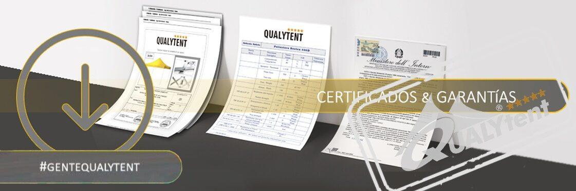 Certificados Tendas dobráveis Qualytent