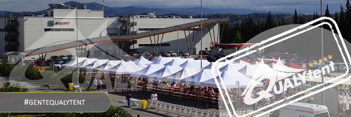 Montagem modular de tendas dobráveis Premium 3x3m de color branco