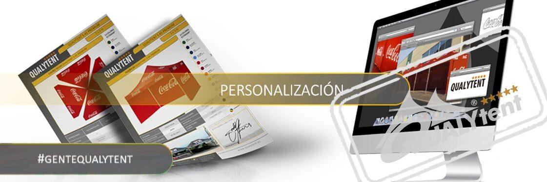 Personalização de tendas dobráveis Qualytent Premium