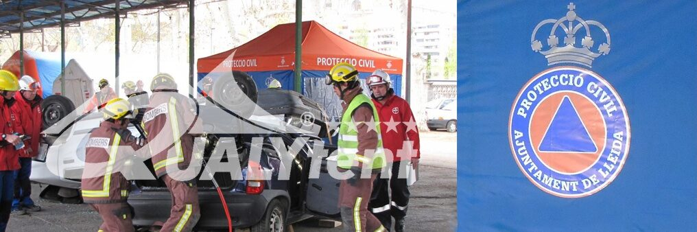 Posto de comando avançado da Protecção Civil de Lleida, Resgate de Carpas