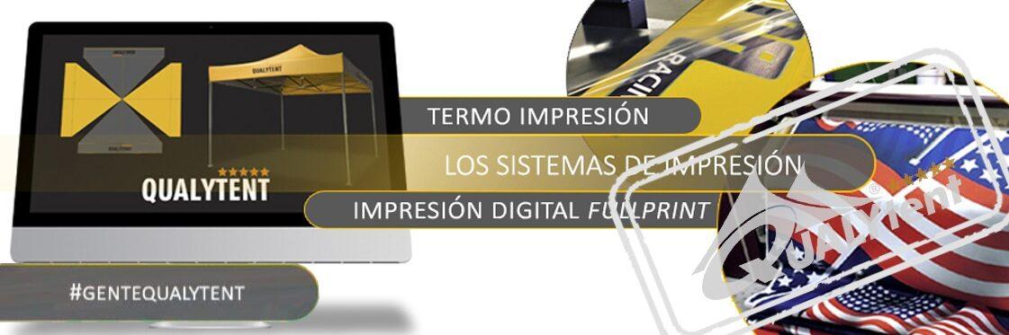 Sistemas de impressão para tendas Premium Qualytent