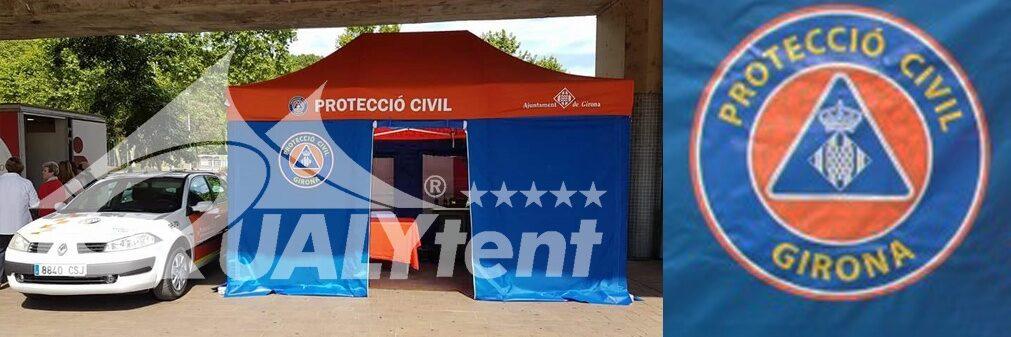 Tenda 4.5x3m posto de comando avançado para a Proteção Civil de Girona