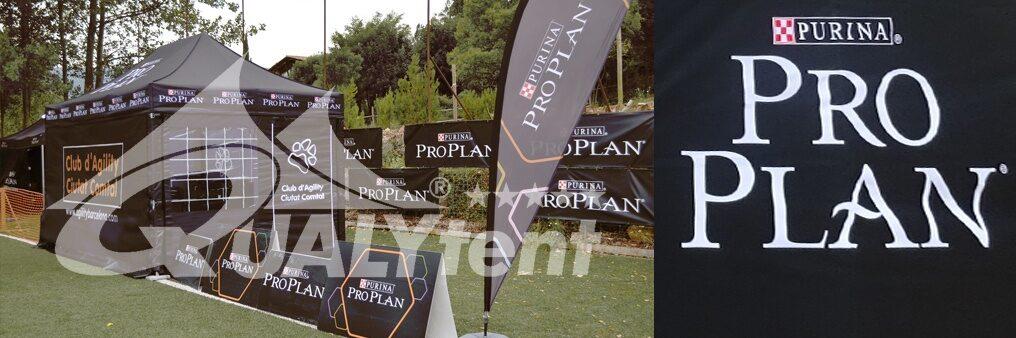 Tenda dobrável Premium 3x4.5m, tenda personalizada para Purina Pro Plan