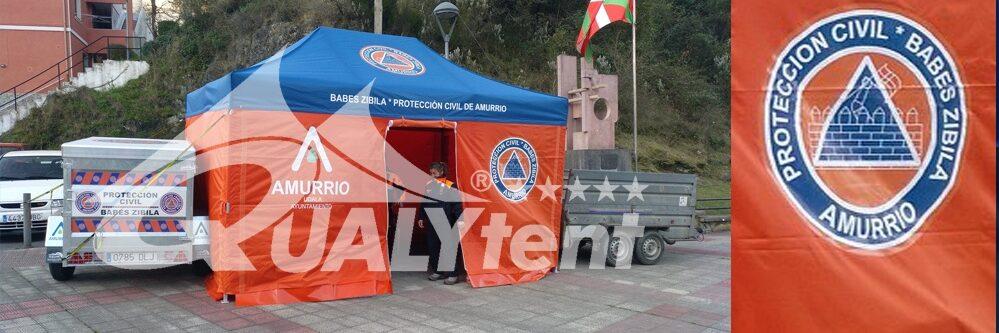 Tenda dobrável Rescue customizada para a Proteção Civil de Amurrio