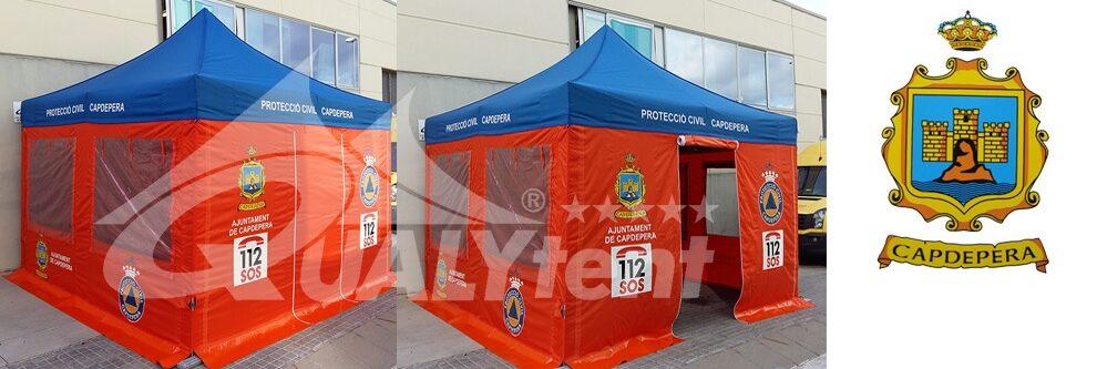 Tenda para posto de comando avançado da Protecção Civil de Capdepera