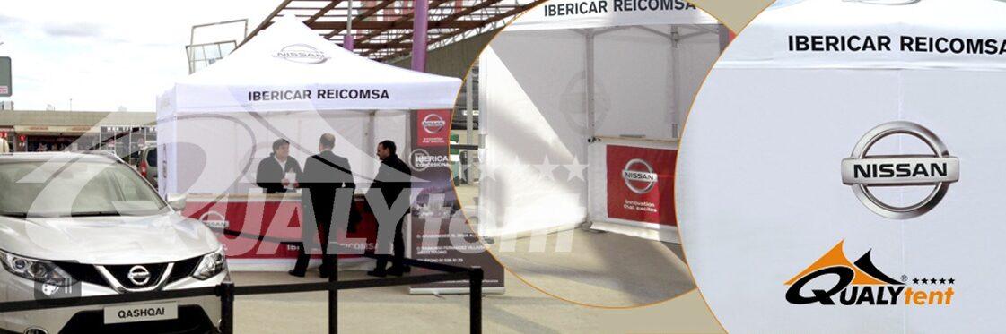 Tenda promocional com balcão personalizado da Nissan