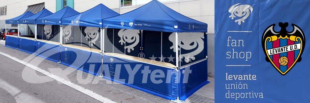 Tendas dobráveis com balcão, tendas personalizadas para a Unión Deportiva Levante