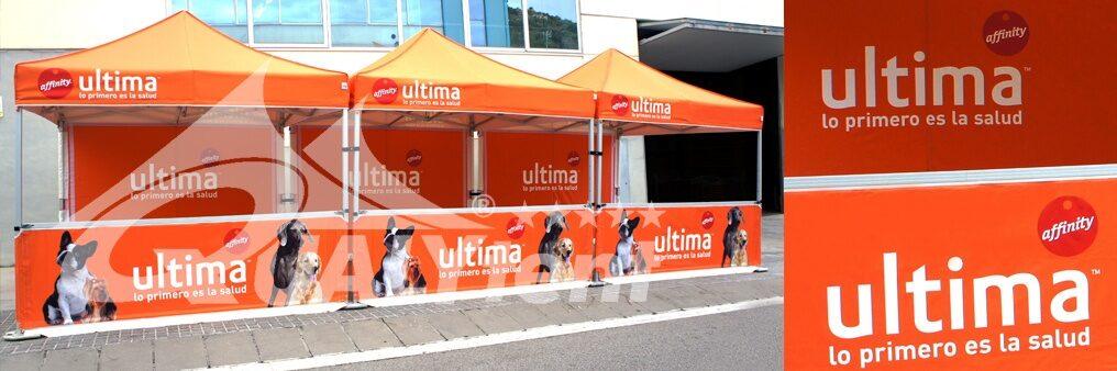 Tendas dobráveis com impressão digital para Affinity Ultima
