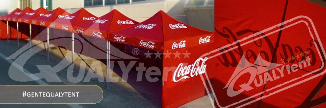 Tendas dobráveis de 3x3m com personalização Coca-Cola
