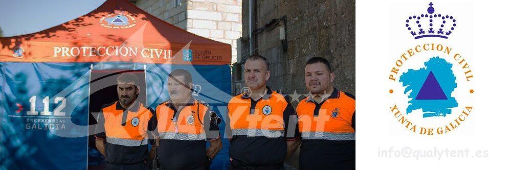 Tendas dobráveis de 4x4m para a Proteção Civil Qualytent