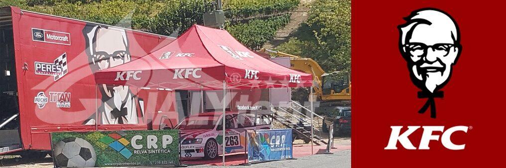 Tendas dobráveis de 4x6m estampadas para Kentucky Fried Chicken