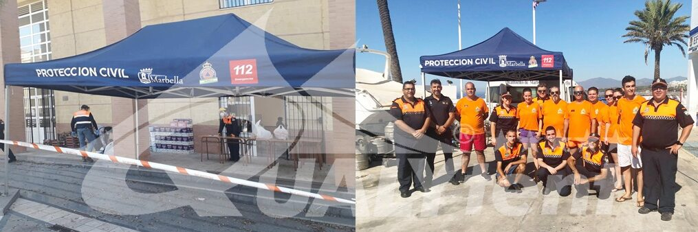 Tendas dobráveis de Proteção Civil Marbella, tendas Premium