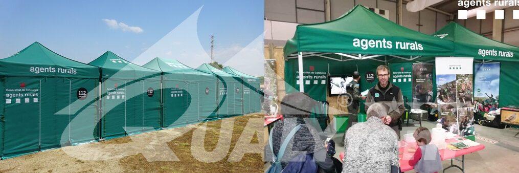 Tendas dobráveis para Agentes Rurais, tendas para equipas de emergência