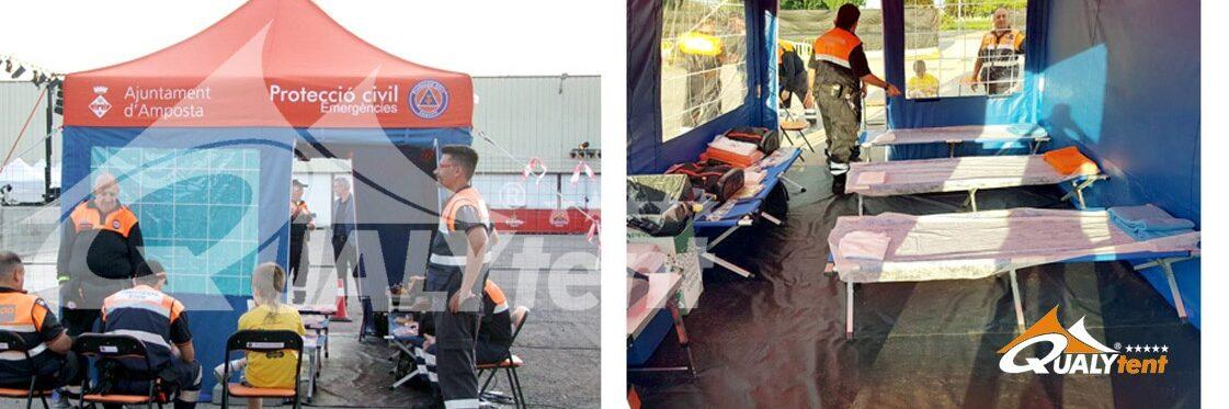 Tendas dobráveis para posto de comando avançado Rescue
