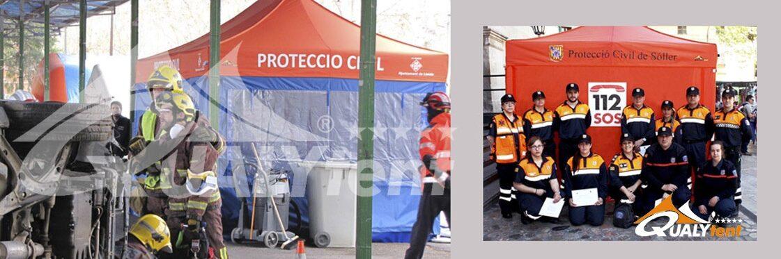 Tendas dobráveis para posto de comando avançado Rescue de Qualytent