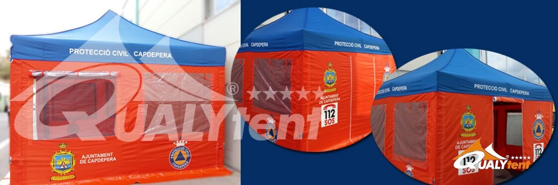 Tendas dobráveis para proteção civil