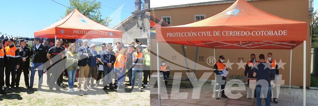 Tendas dobráveis para proteção civil, tendas premium 4x4m