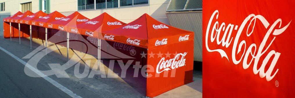 Tendas dobráveis personalizadas para Coca Cola, tendas Premium de 3 x 3 m