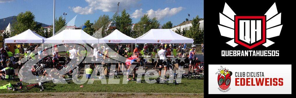 Tendas dobráveis personalizadas para clubes de ciclismo