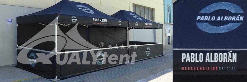 Tendas dobráveis 4.5x3m QT S-45 rotuladas Pablo Alborán