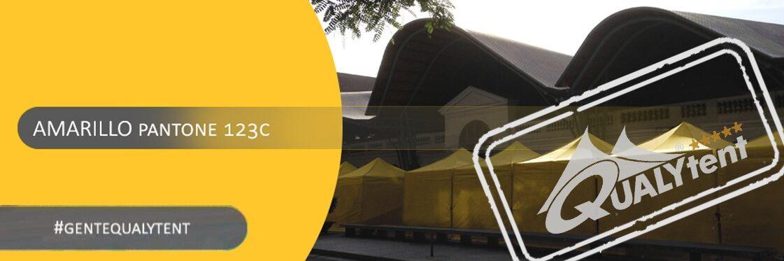 Tendas dobráveis amarelas Qualytent Premium
