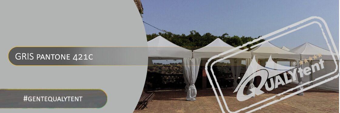 Tendas dobráveis cinza Qualytent Premium