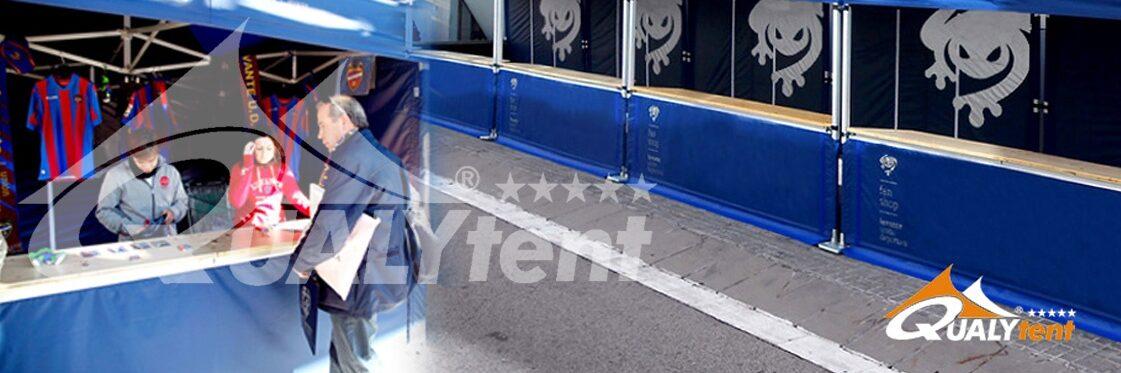Tendas dobráveis de 3x3m para Levante Unión Deportiva