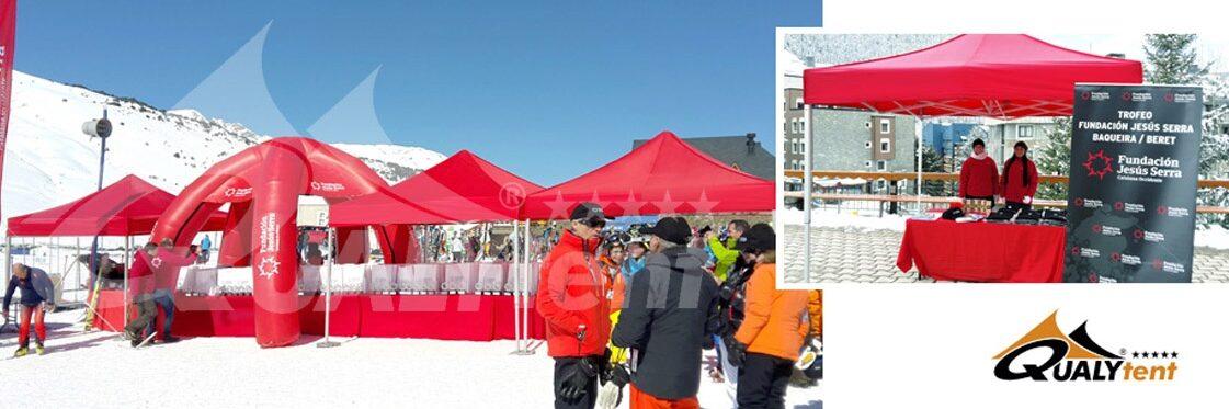 Tendas dobráveis de 3x3m vermelhas para feiras