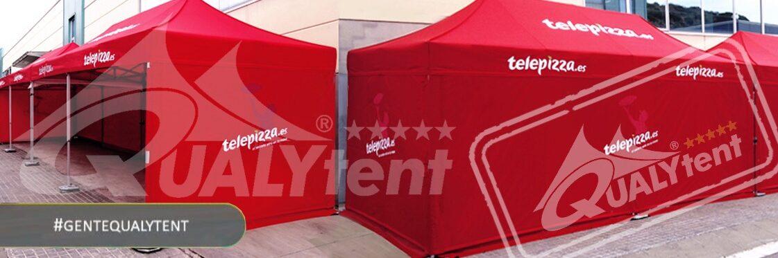 Tendas dobráveis de 4.5x3m QT S-45 estampadas Telepizza