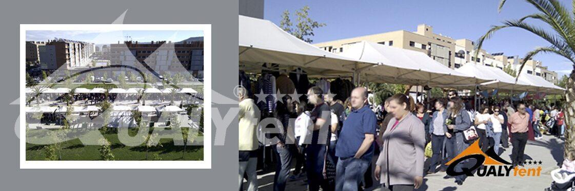 Tendas dobráveis de 3x6m con pala Qualytent
