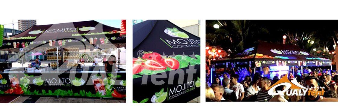Tendas dobráveis full print para Mojito Club de Qualytent