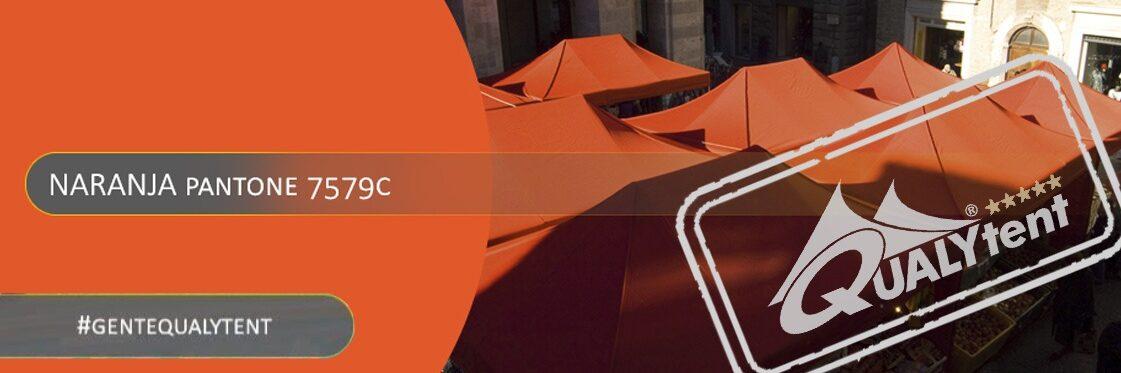 Tendas dobráveis laranjas Qualytent Premium