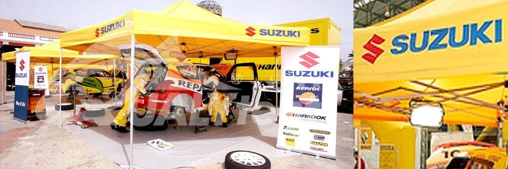 Tendas dobráveis para motor personalizadas Suzuki