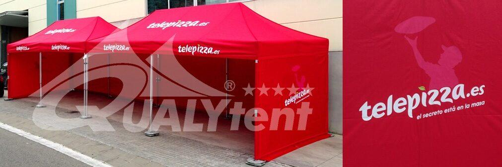 Tendas dobráveis personalizadas para Telepizza