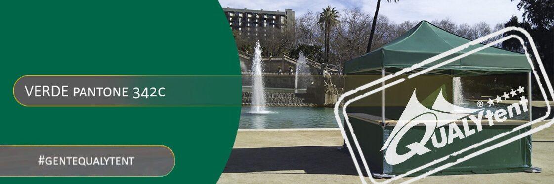Tendas dobráveis verdes Qualytent Premium
