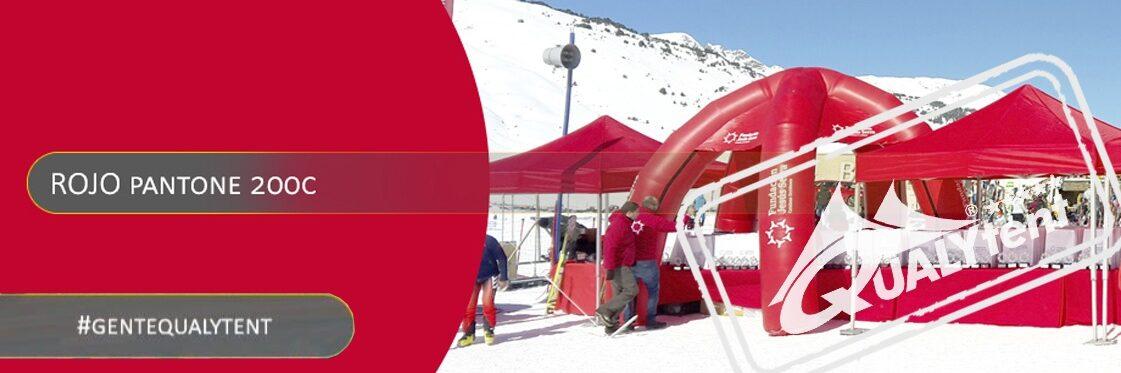 Tendas dobráveis vermelhas Qualytent Premium