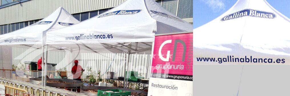 Tendas personalizadas para Gallina Blanca, tendas dobráveis Premium 4x4m
