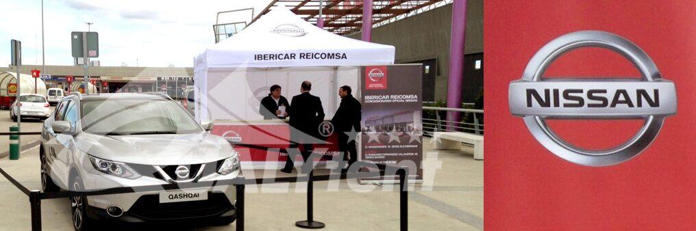 Tendas personalizadas para Nissan, tendas de 3x3m con balcao