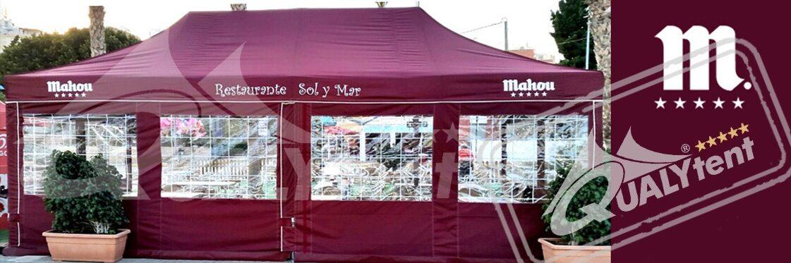 Personalização da sua tenda dobrável 4x8m Mahou