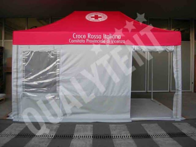 Tenda de 4.5x3m Rescue para Cruz Vermelha