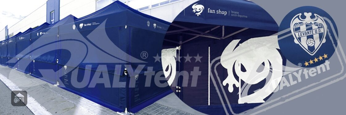 Tendas dobráveis 3x3m Qualytent Premium personalizadas Levante Ud