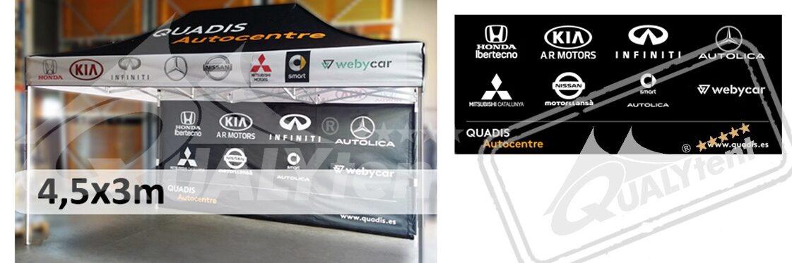Tendas dobráveis Qualytent 3x4.5m Premium