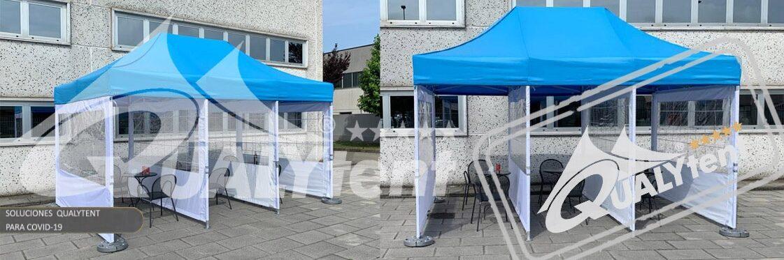 Tendas dobráveis Qualytent Premium, tendas para restauração