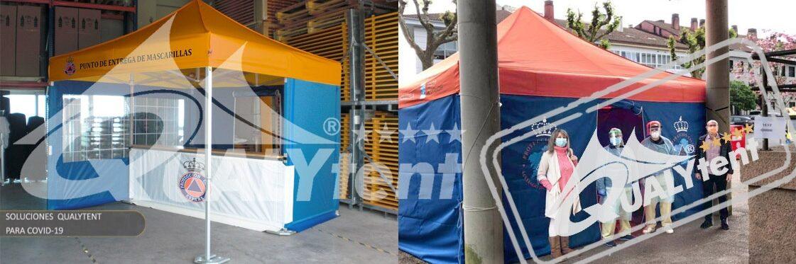 Tendas dobráveis Rescue Qualytent, tendas para Proteção Civil