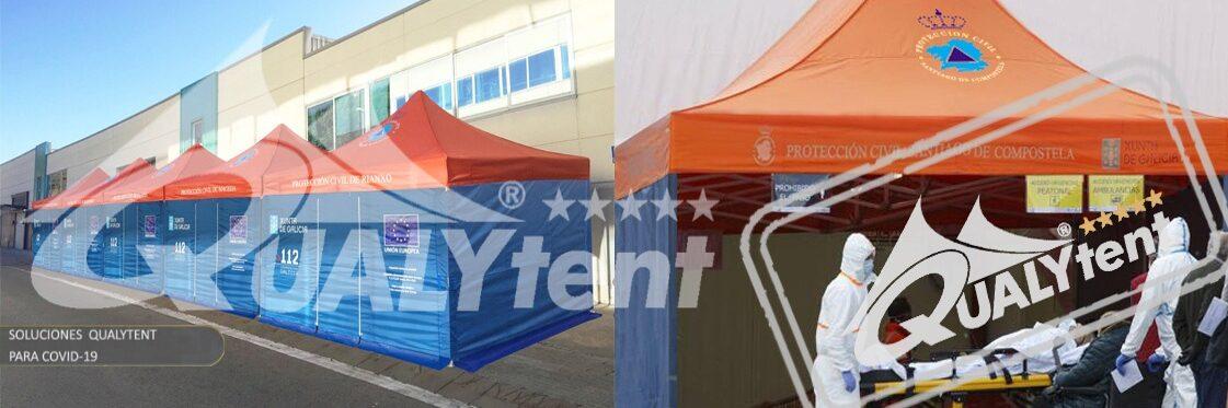 Tendas dobráveis Rescue Qualytent, tendas para equipas de emergência