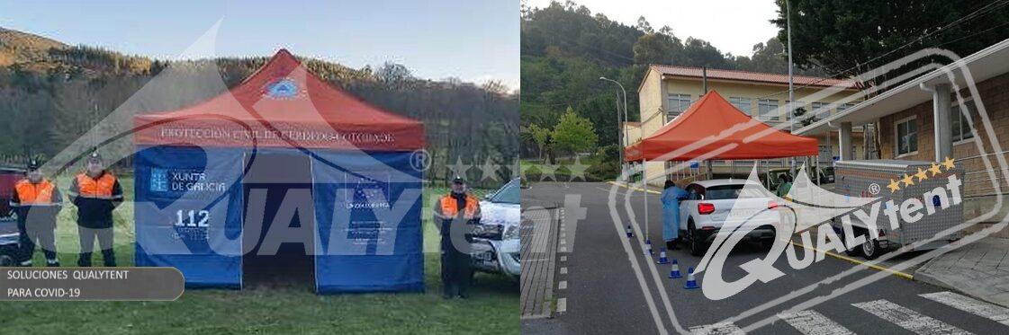 Tendas dobráveis Rescue Qualytent, tendas para posto de comando avançado