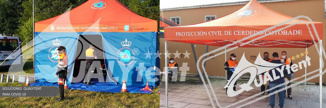 Tendas dobráveis Rescue Qualytent, tendas para posto sanitario avançado